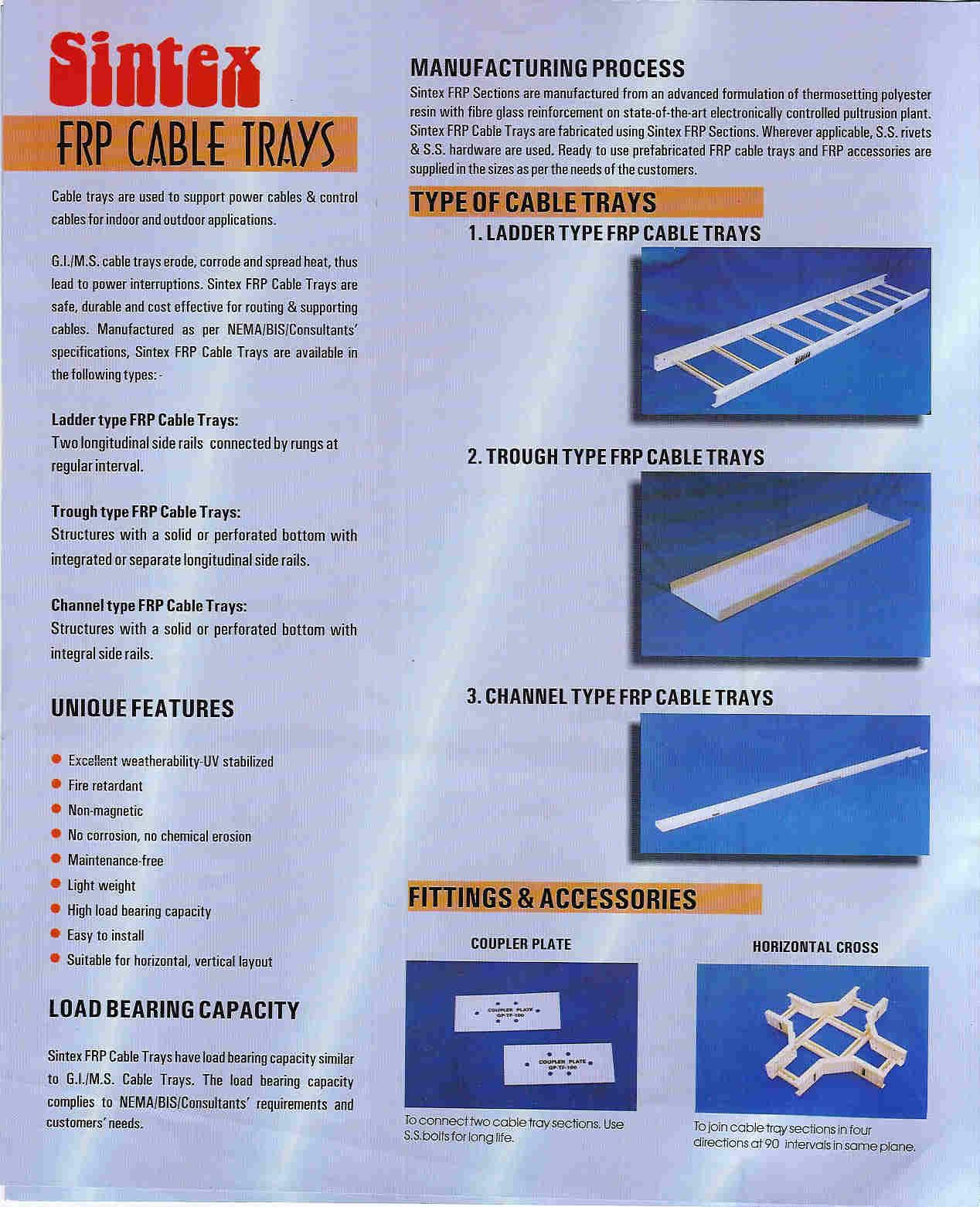 FRP Cable Trays – Mahavir Industrial Corportion